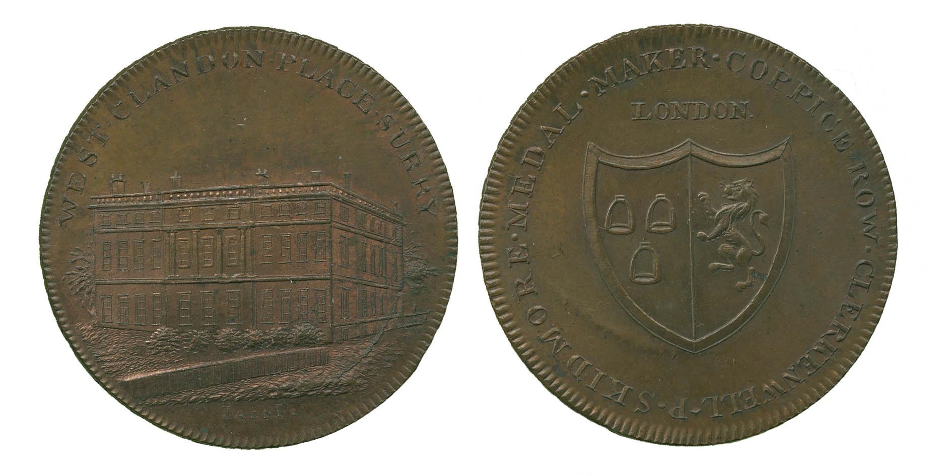 Surrey, Croydon, Clandon Place, Penny Token, 1797