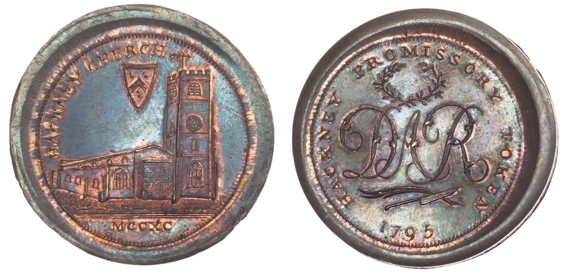 Hackney, David Rebello, Skidmore's Penny Token, 1795