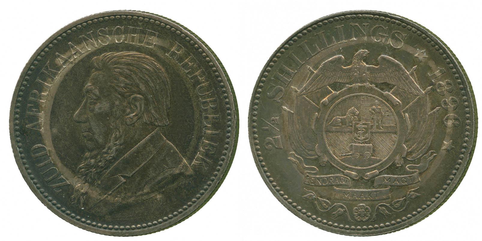 South Africa, Paul Kruger, silver Halfcrown, 1896