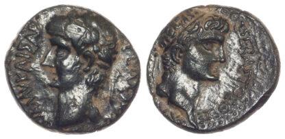 Claudius with Divus Augustus, AE 21
