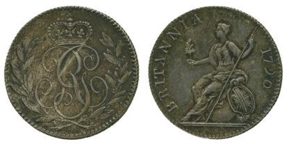 George III, Pattern Sixpence, 1790