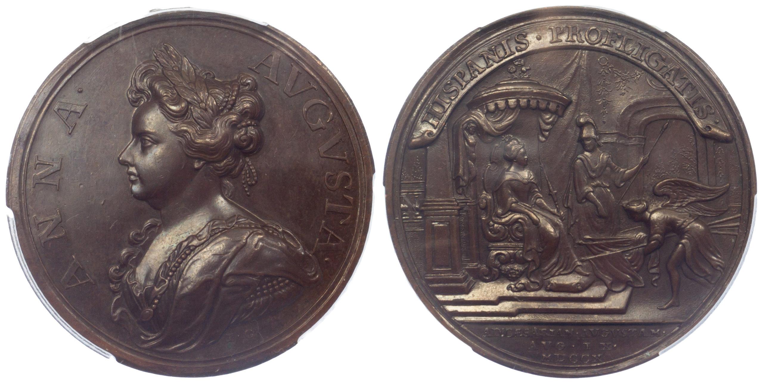 Anne, Battle of Saragossa, Medal, 1710