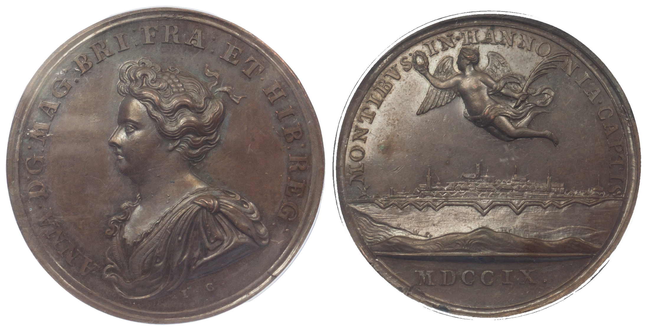 Anne, Capture of Mons, Medal 1709