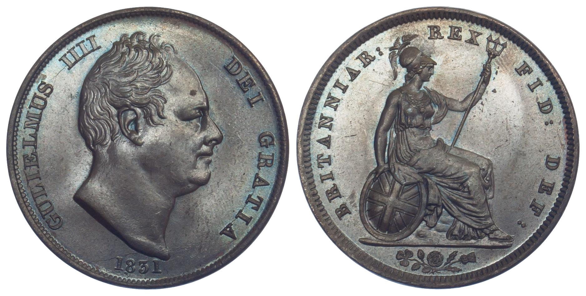 William IV, Penny, 1831
