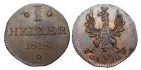 Germany, Frankfurt, Copper Heller, 1818