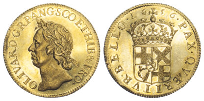 1656 Oliver Cromwell Gold Broad