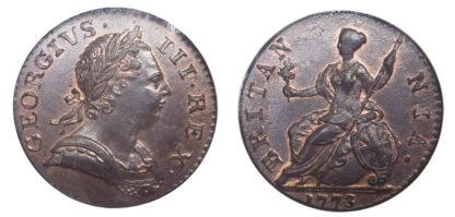 George III, Halfpenny, 1771
