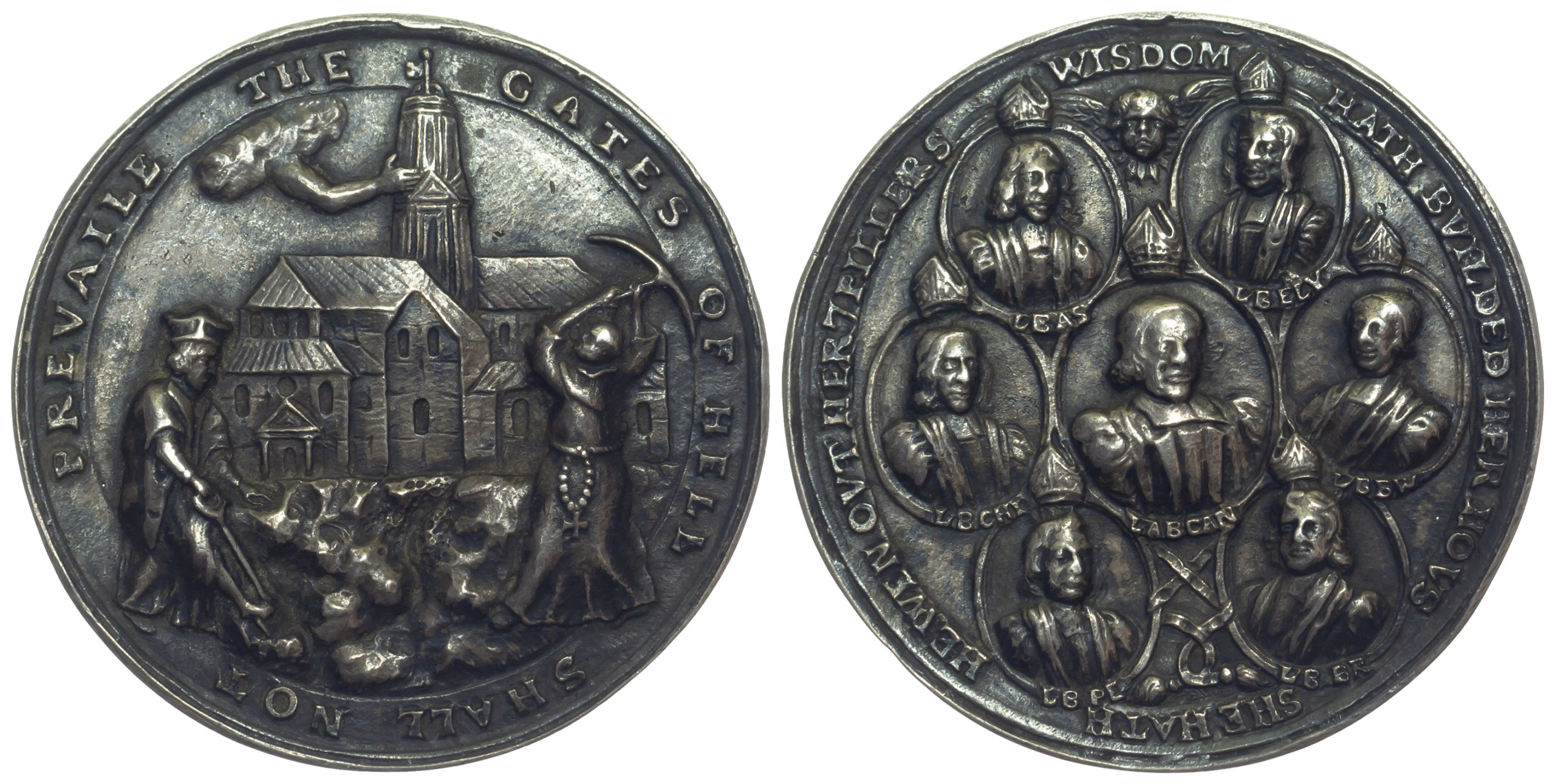 James II, Stability of Anglican Church, Silver Medal, 1688
