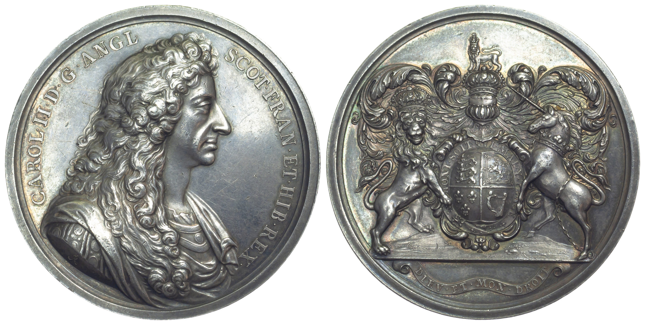 Charles II, Silver Presentation Medal, c.1683