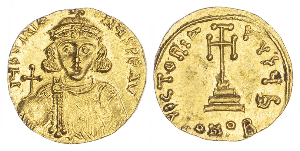 Justinian II, Gold Solidus