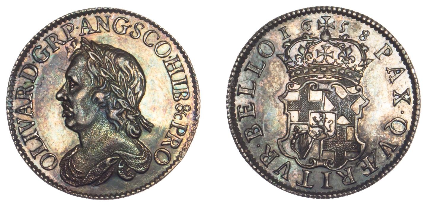 Cromwell Shilling 1658