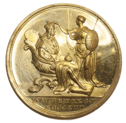 George I, Coronation, Gold Medal, 1714