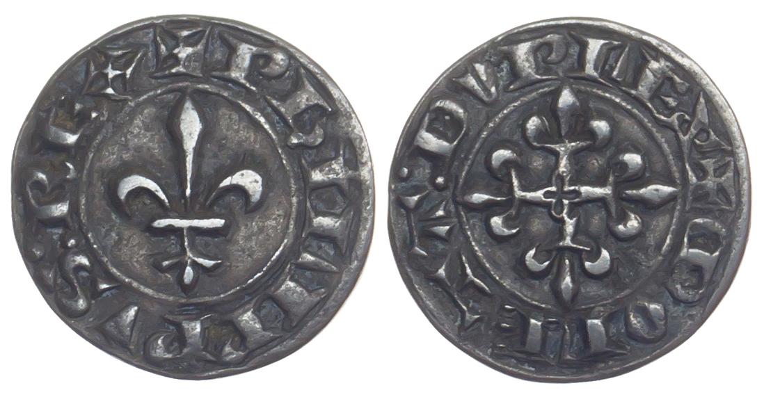 France, Philippe VI, Copper Piedfort Double Parisis