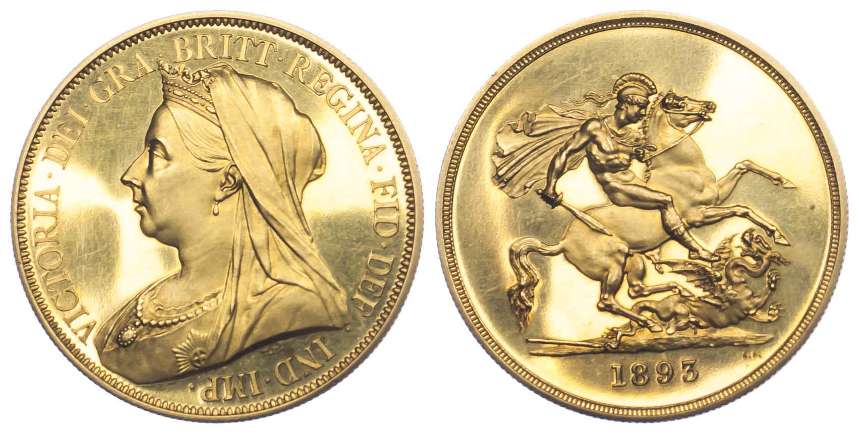 1893 OH Gold Proof Five Pounds
