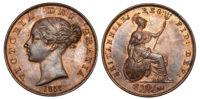 Victoria, Halfpenny, 1858/7