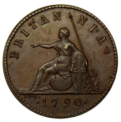 1790 Pattern Copper Droz Farthing