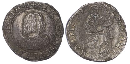 Italy, Masserano, Pier Luca II Fieschi (1528-48), silver Testone