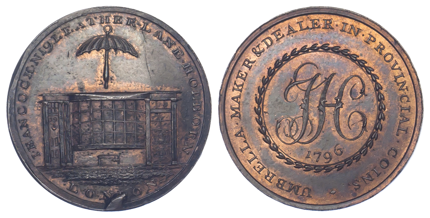 London, Leather Lane, J. Hancock, Halfpenny Token, 1796