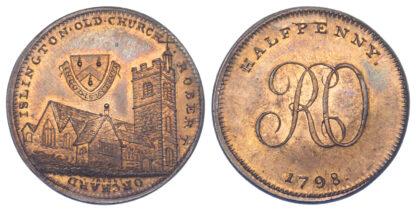 London, Soho, Skidmore, Halfpenny Token, 1798