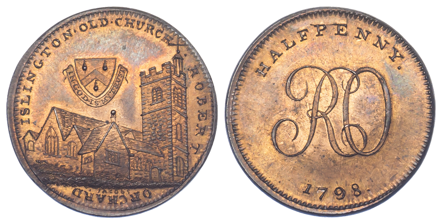 London, Soho, Skidmore, Halfpenny Token, 1798