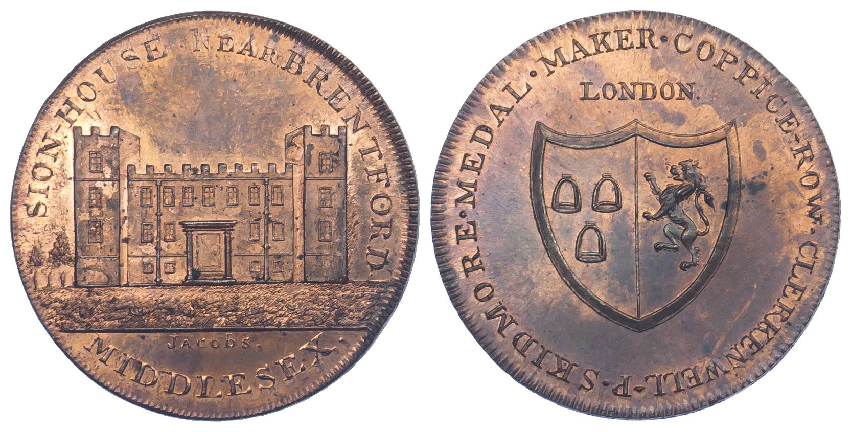 Middlesex, Brentford, Skidmore, Halfpenny Token, 1797