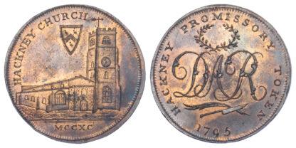 London, Hackney, David Rebello, Halfpenny Token, 1795