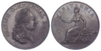 Non Local, Westwood, British Commercial Penny Token, 1797