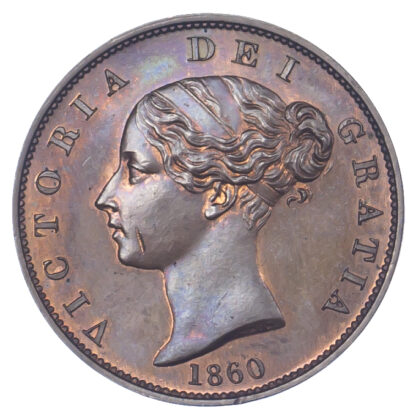 Isle of Man, Victoria, Bronzed Proof Halfpenny, 1860