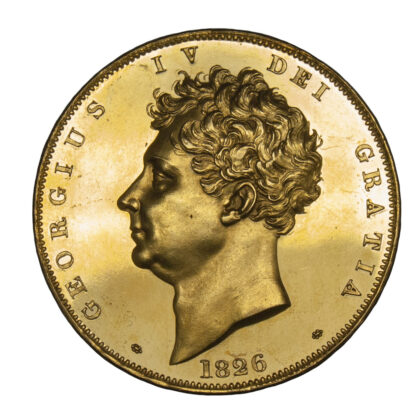 1826 George IV Gold Proof Five Pounds