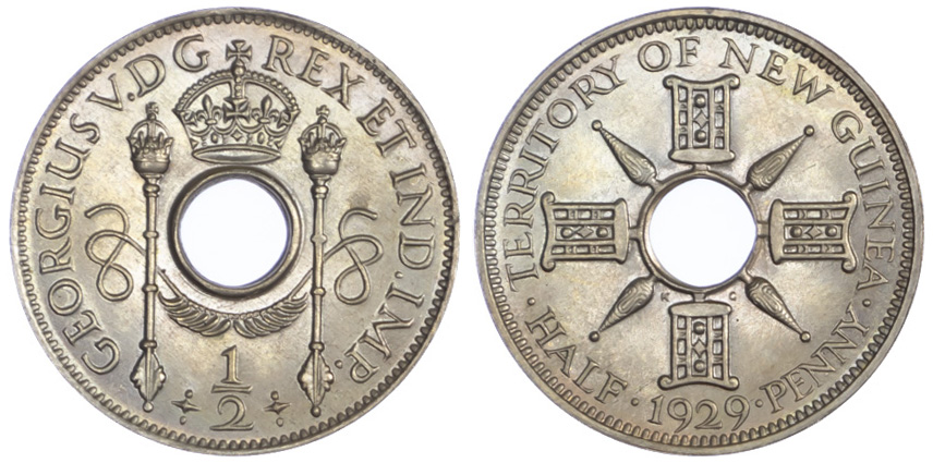 New Guinea, George V, Proof Halfpenny, 1929