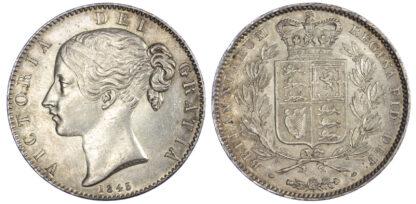 1845 Queen Victoria Crown Cinquefoil Stops