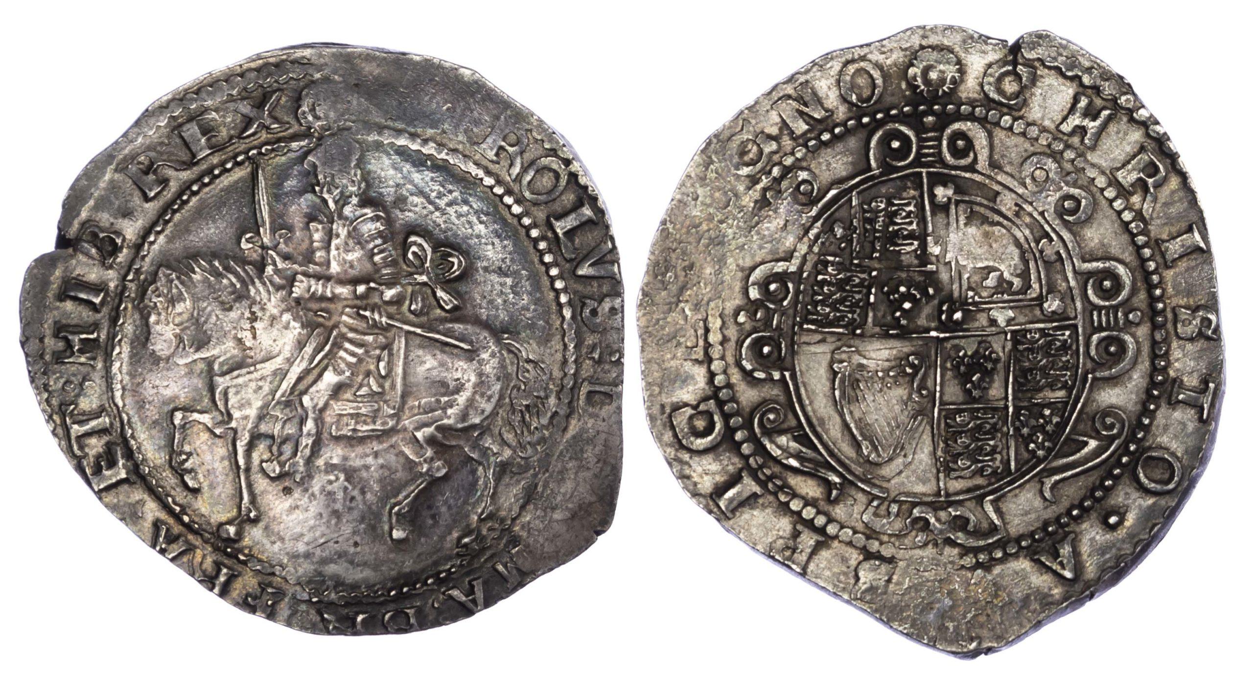 Charles I Exeter Halfcrown S3065