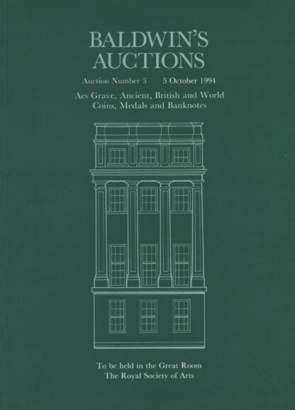 Baldwin's Auction No. 3 Catalogue, October 1994.