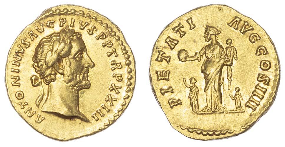 Antoninus Pius, Gold Aureus