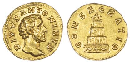 Divus Antoninus Pius, Gold Aureus