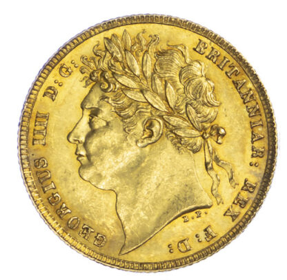 1821 George IV Sovereign About Uncirculated