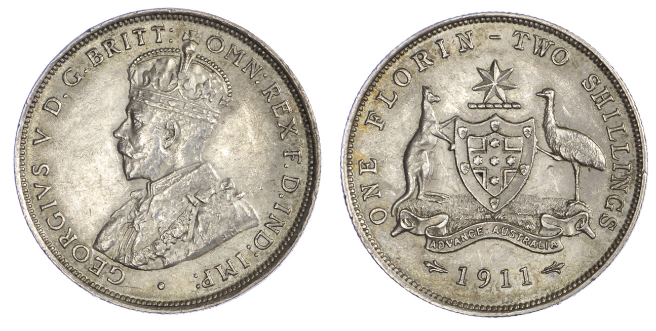 Australia Florin, 1911