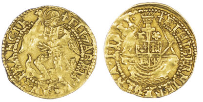 Elizabeth I Gold Quarter Angel S2528