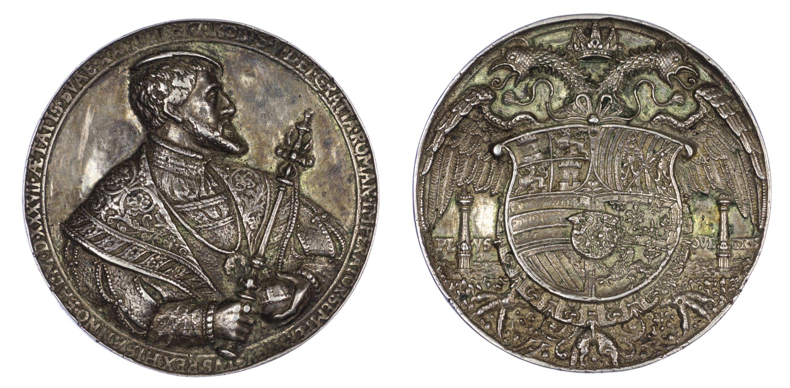 Holy Roman Empire, Charles V, silver medal, 1537