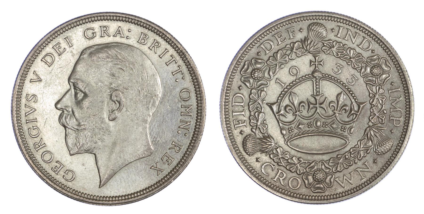 1933 George V Wreath Crown GEF
