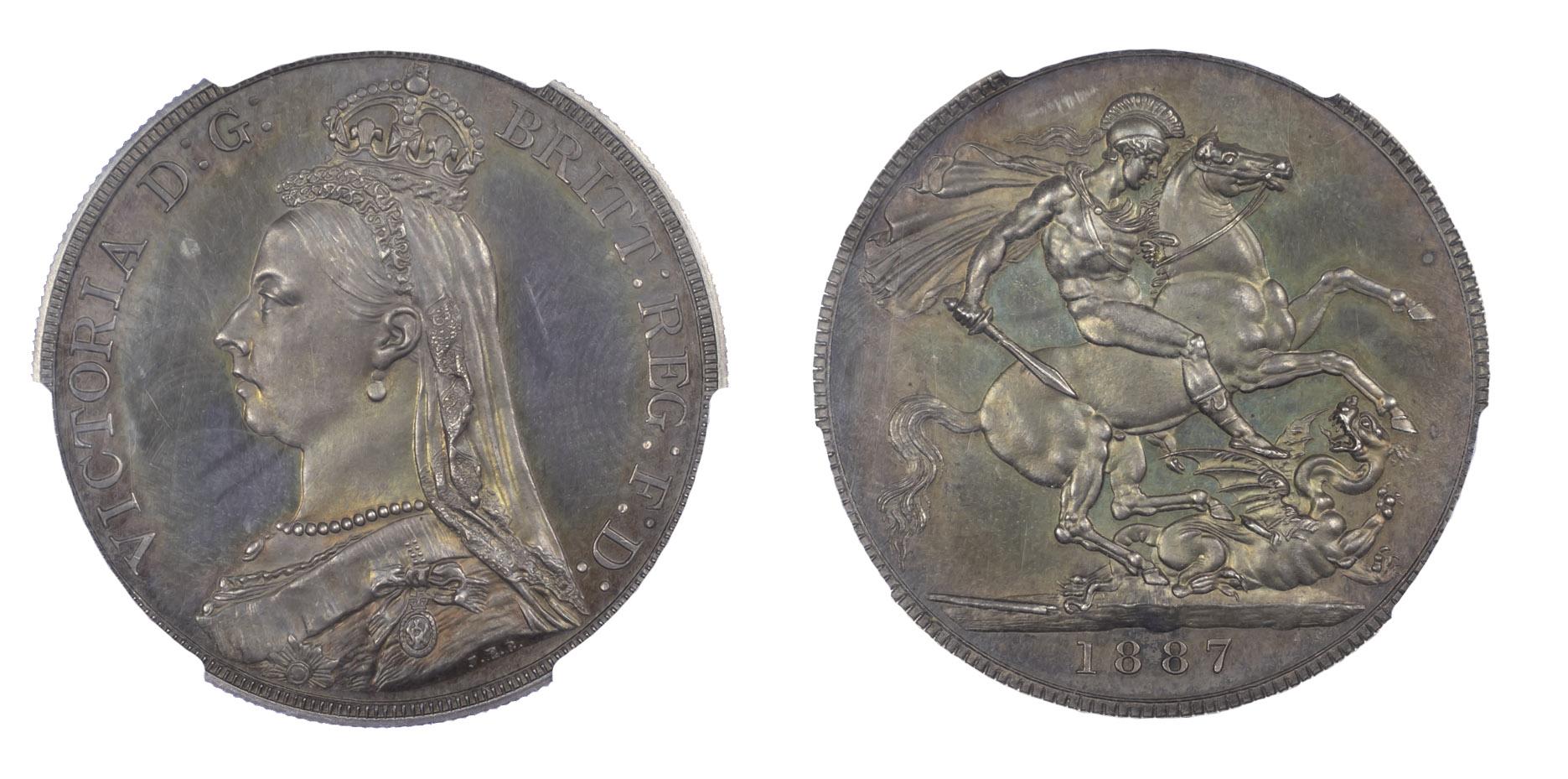 1887 Proof Victoria Crown Proof 64+