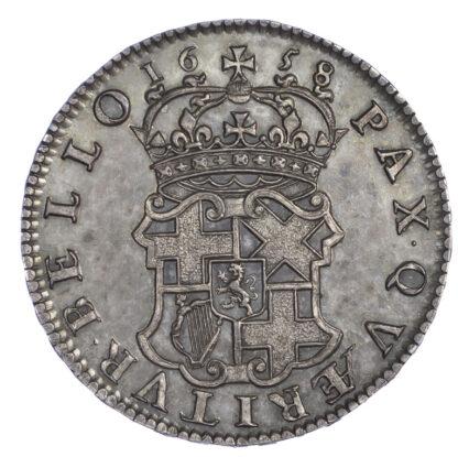1658 Oliver Cromwell Halfcrown GEF