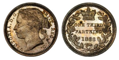 Victoria Proof One Third of a Farthing, 1866