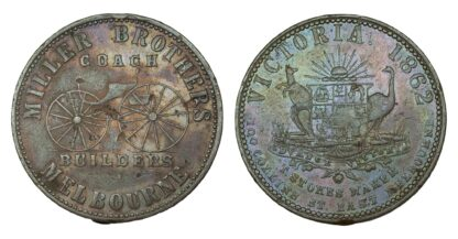 Australia, Miller Brothers, Copper Penny Token