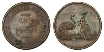 Flavelle Bros. & Co., Australia, Copper Penny Token