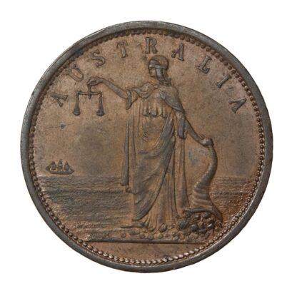 R. Parker, Australia, Copper Penny Token