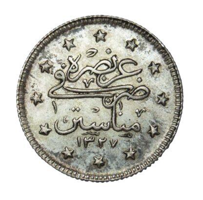 Turkey, 1911, Silver 2 Kurush