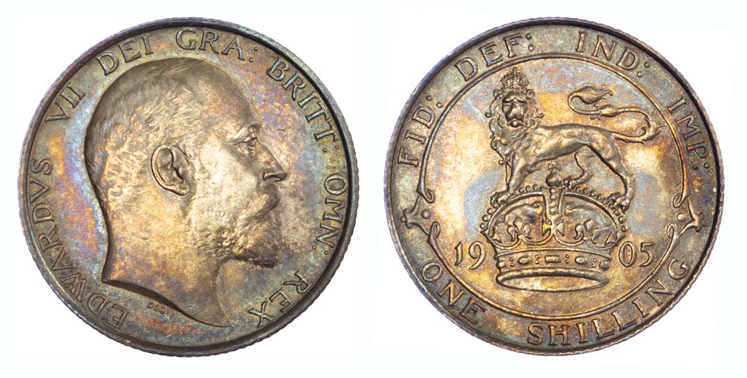 1905 Edward VII Shilling GEF