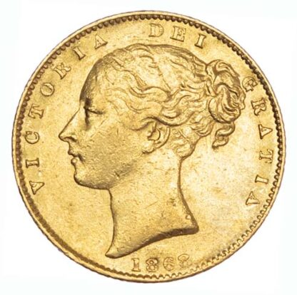 1868 Victoria Shield Sovereign Very Fine