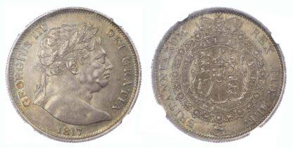 1817 LH George III Halfcrown MS61